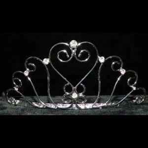Accessories - Heart tiara rhinestone combs crown pageant women